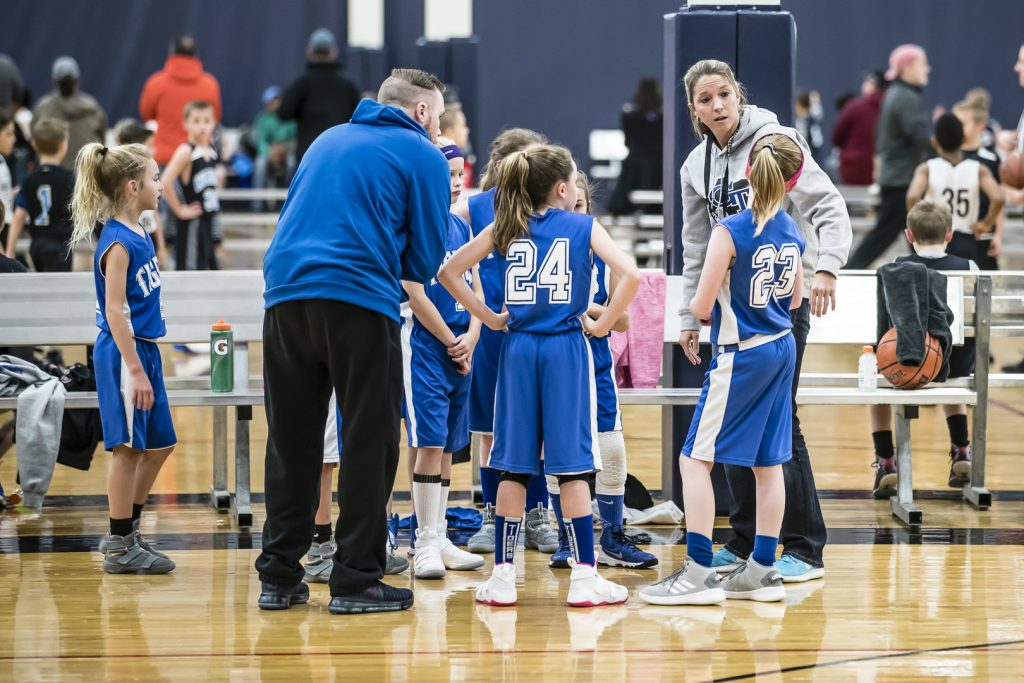 Girl's bball timeout